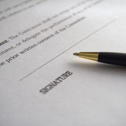 Service Agreement Contract Front